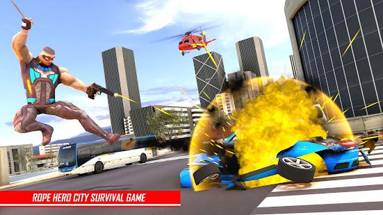 Rope Hero Man: Spider Miami City Gangster Apkfinish screenshots 4