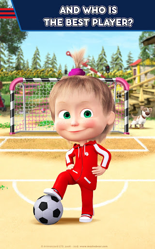 Masha and the Bear: Football Games for kids Apkfinish screenshots 17