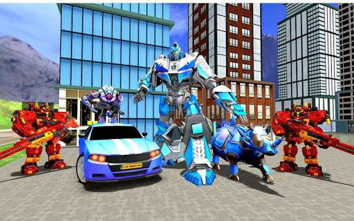 Rhino Robot Car Transformation: Robot City battle 0.6 screenshots 8