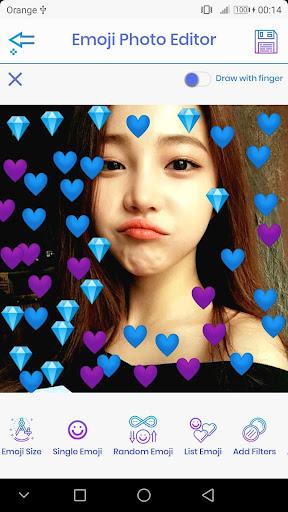 Emoji Photo Editor ud83dudc99 (Emoji & Crown Heart Emoji) 3.1 Screenshots 5