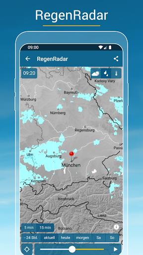RegenRadar - mit Unwetterwarnung apktram screenshots 1