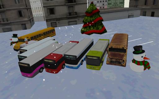 bus winter parking - 3d game screenshot 3