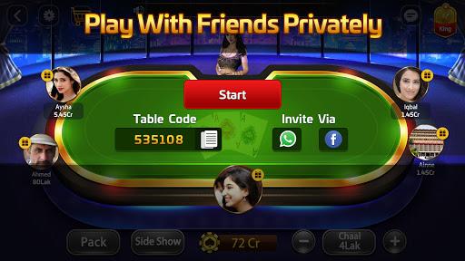 Taash Gold - Teen Patti Rung 3 Patti Poker Game 2.0.20 screenshots 13