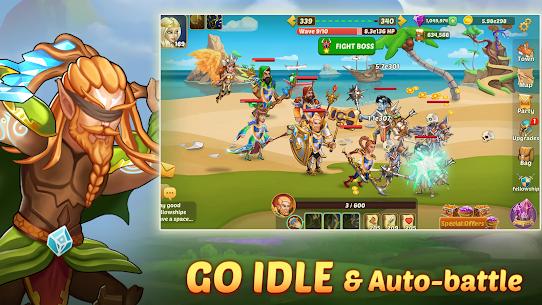 Firestone Idle RPG: Tap Hero Wars MOD (Energy/God Mode) 4