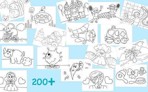 First Coloring book for kindergarten kids 3.0.1 screenshots 1