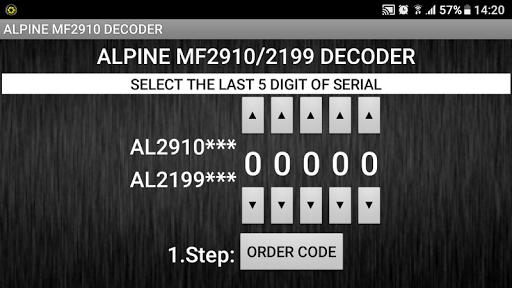 MF2910 Radio Code Decoder  screenshots 2
