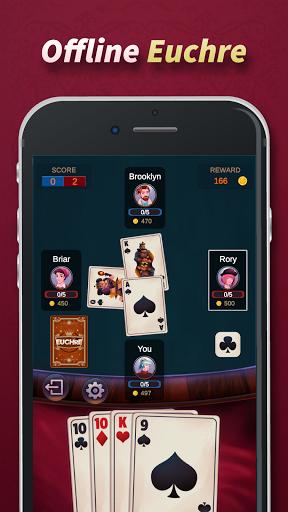 Euchre - Free Offline Card Games  screenshots 1
