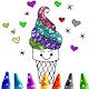 Ice Cream Coloring Book Glitter 🍦 para PC Windows