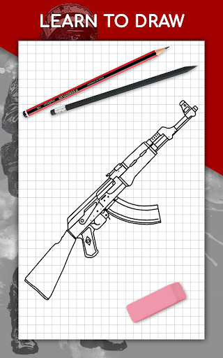 How to draw weapons step by step, drawing lessons  screenshots 9