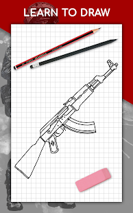 How to draw weapons step by step, drawing lessons 1.6.4 Screenshots 17