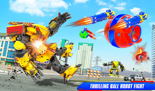 Flying Helicopter Car Ball Transform Robot Games android2mod screenshots 5