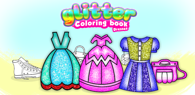 Glitter Dresses Coloring Book - Drawing pages 7.0 Screenshots 9