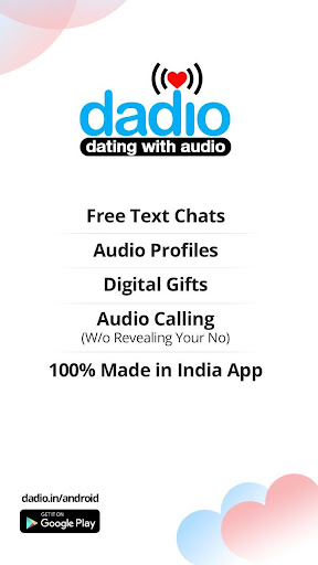 Dadio - Free Audio Dating App, No Fakes Dating App  screenshots 1