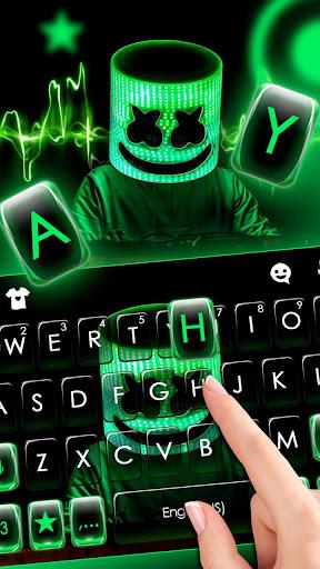neon dj cool man keyboard theme screenshot 2