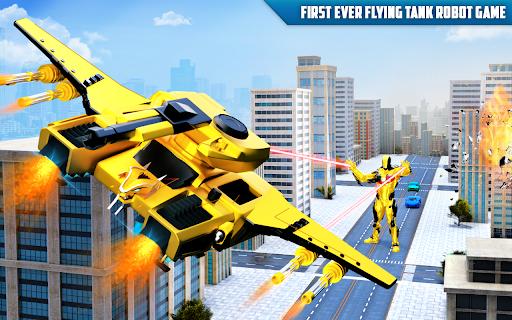 Flying Tank Transform Robot War: Lion Robot Games 10.3.0 Screenshots 10