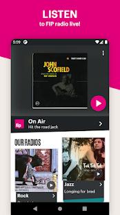 Fip - live radio & music streams jazz rock electro