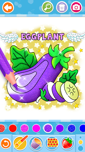 Fruits and Vegetables Coloring Game for Kids  screenshots 7