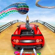 Muscle Car Stunt Race: Mega Ramp Car Shooting Game