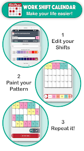 作業シフトカレンダー