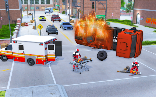 Light Speed Hero Rescue Mission: City Ambulance 1.0.4 screenshots 4