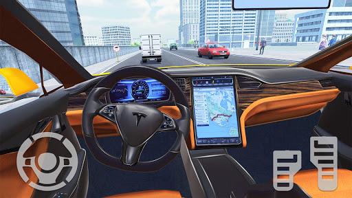 Electric Car Simulator 2021: City Driving Model X Apkfinish screenshots 11