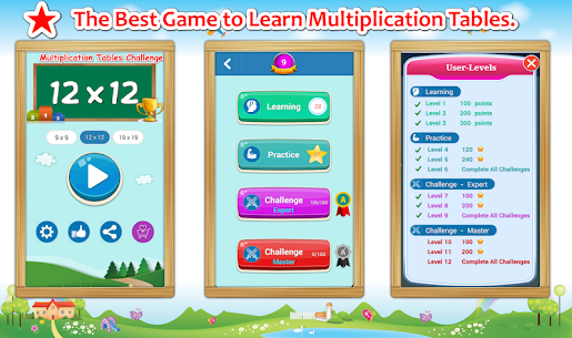 Free Multiplication Tables Challenge (Math Games) 3