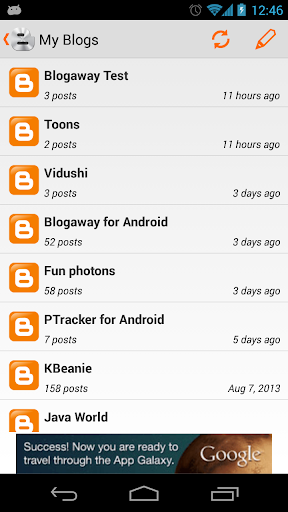 blogaway for android (blogger) screenshot 2