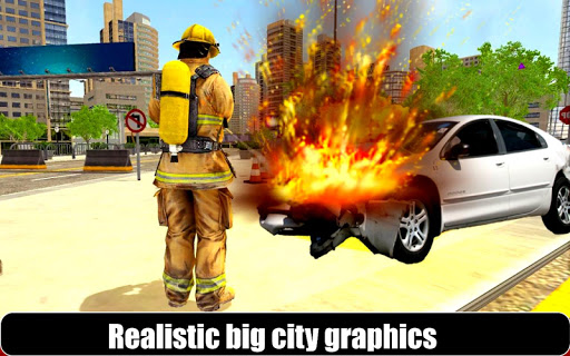 American Fire Fighter 2019: Airplane Rescue apkpoly screenshots 8