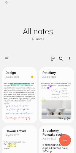 Samsung Notes 3.1.06.3 Screenshots 1