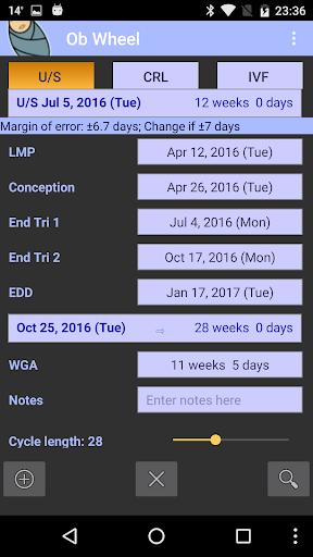 OB Wheel (Pregnancy calculator) 10.5.0 (2020-08-31) - FREE as in BEER Screenshots 2
