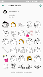 Free WAStickerApps meme  Rage Faces  Comics stickers Apk Download 2021 5