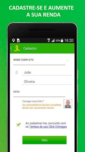 ClickEntregas: Courier Job App in Brazil modavailable screenshots 1