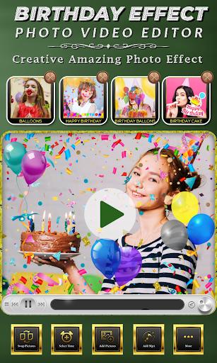 Birthday Photo Effect Video Maker with Song apktram screenshots 5