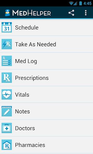 Med Helper Pill Reminder screenshot for Android