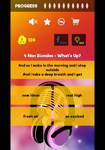 Finish The Lyrics - Free Music Quiz App 3.0.2 Screenshots 8