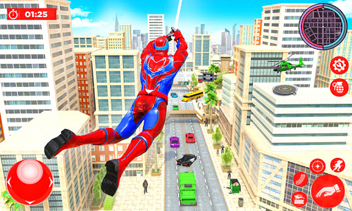 Flying Police Robot Rope Hero: Gangster Crime City  screenshots 2
