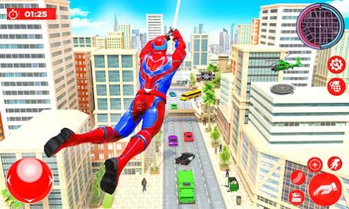 Flying Police Robot Rope Hero: Gangster Crime City 2