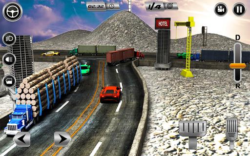 Euro Long Trailer Truck Sim 2021: Cargo Transport 2.4 screenshots 5
