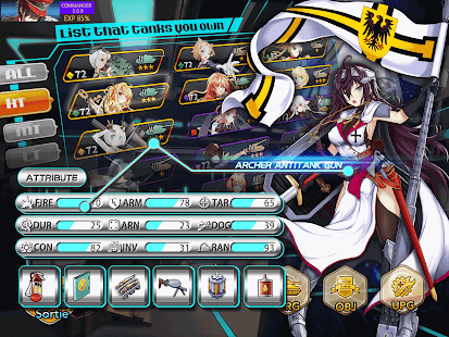 Panzer Waltz:Best anime game Screenshot