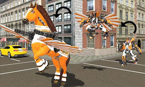 real robot horse battle:wild horse us police robot screenshot 1