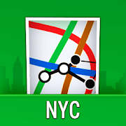 NYC Subway Map with MTA Bus, LIRR & Metro North