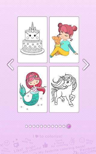 Girls Coloring Book - Color by Number for Girls 2.3.0.0 screenshots 4