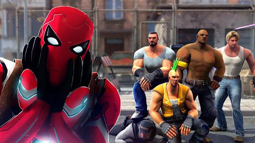 Superhero Ninja Battle: Streets Fighting Robot screenshots 3