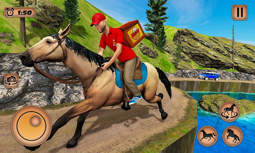 Mounted Horse Riding Pizza Guy: Food Delivery Game 1.0.3 screenshots 4