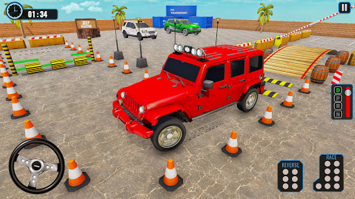 Crazy Jeep Extreme Car Parking Prado Car driving 1.8 screenshots 2