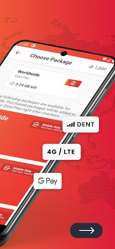 DENT: eSIM data plans & data top-up for all phones 3.6.1 Screenshots 2