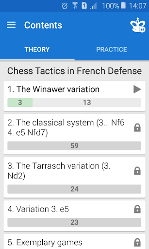Chess Tactics in French Defense screenshots 2