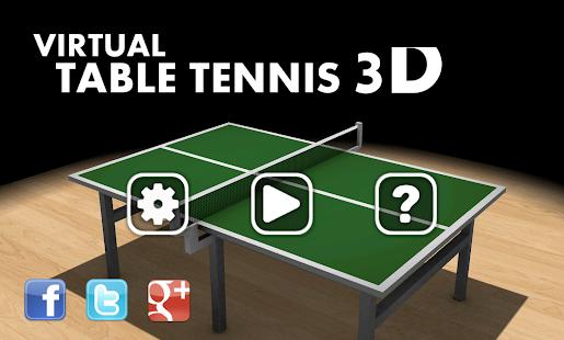 Virtual Table Tennis 3D screenshots 4