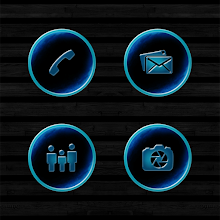 Dark Space Rusted Blue Icons Download on Windows