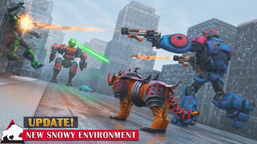 Flying Tiger Robot Attack: Flying Bike Robot Game apktram screenshots 11